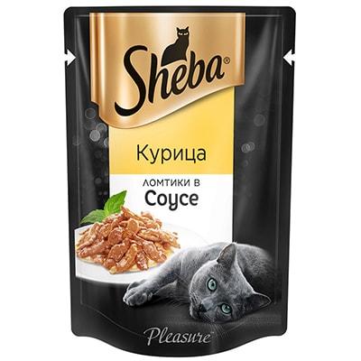 Ломтики курицы в желе - влажный корм для кошек Шеба