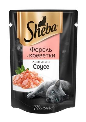 pleasure форель и креветки ломтики в соусе